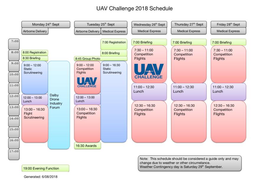 UAV Challenge Schedule 20180806